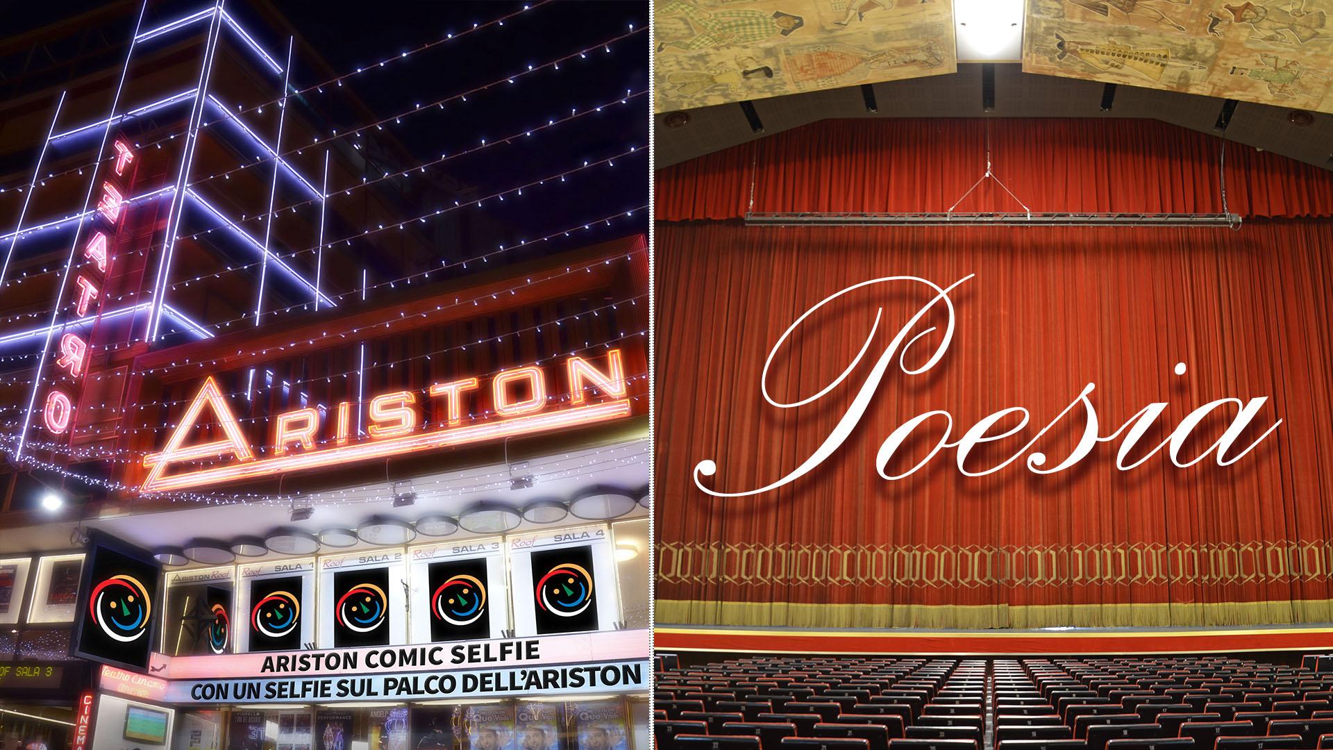 LA POESIA E I POETI PROTAGONISTI SUL PALCO DELL'ARISTON, AL VIA LA SELFIE POETRY DI ARISTON COMIC SELFIE 2018. Dal 10 al 26 aprile aperta la raccolta dei video-selfie poetici – I 3 finalisti si esibiranno sul palco dell'Ariston il 30 e 31 maggio